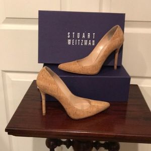 Stuart Weitzman Natural Cork High Heel Shoes